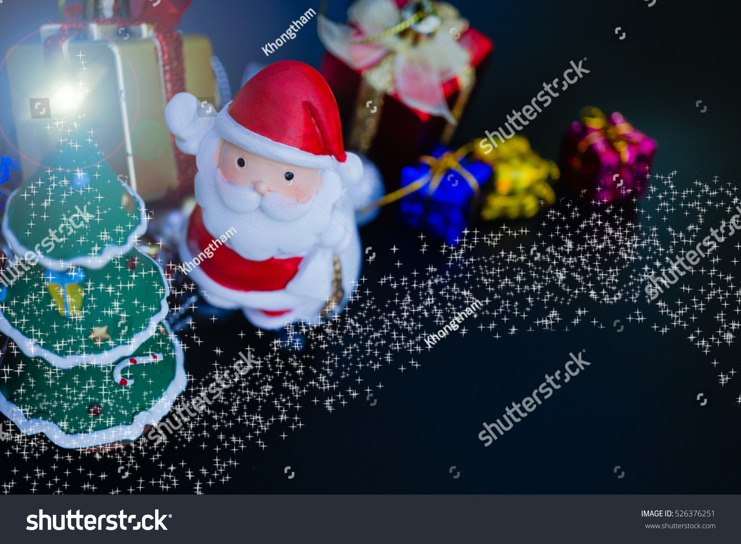 Colorful Christmas Characters Decorations Using Wallpaper