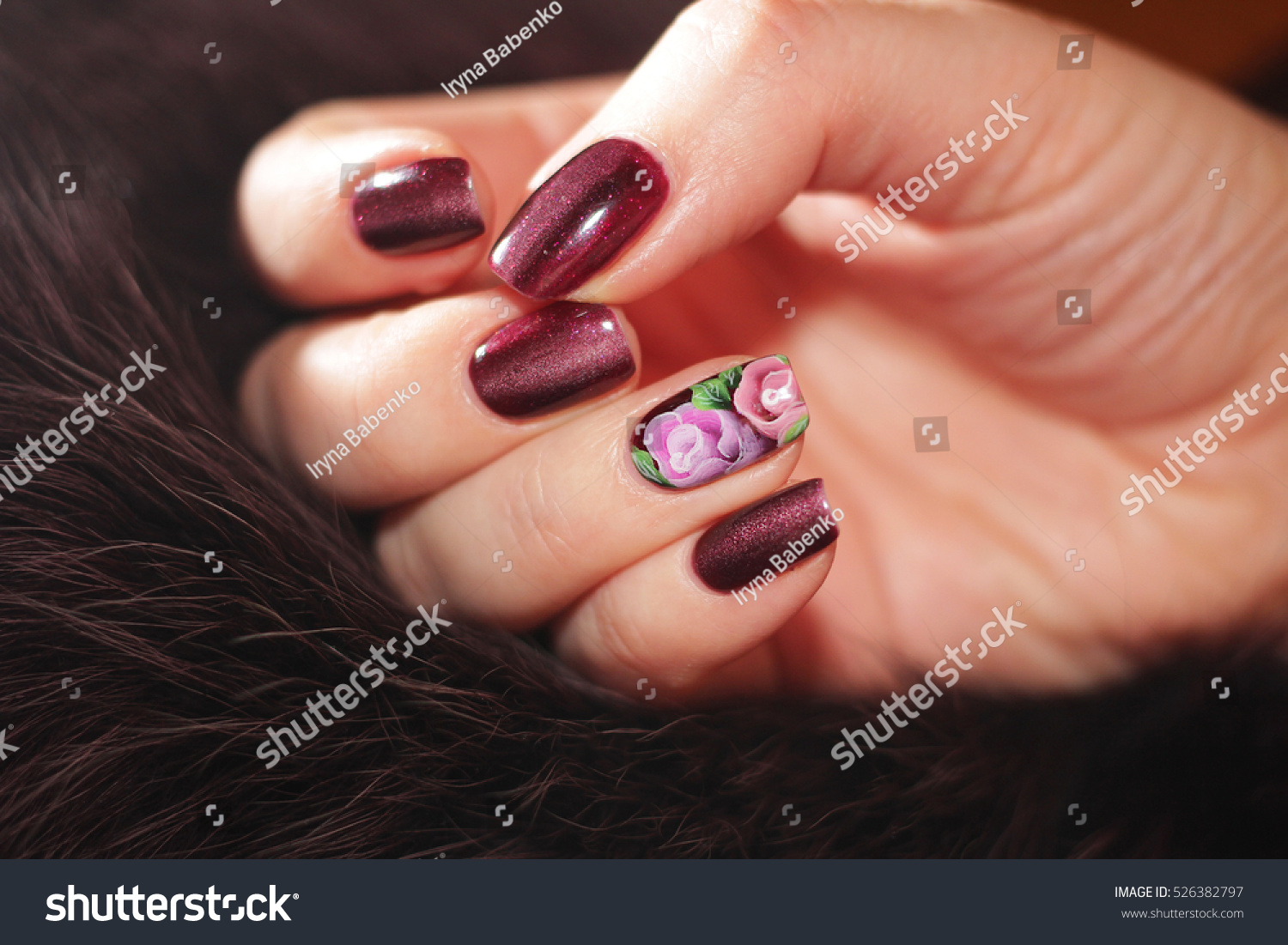 Exclusive Nail Designs Color Fur Gel Stock Photo (Royalty Free ...