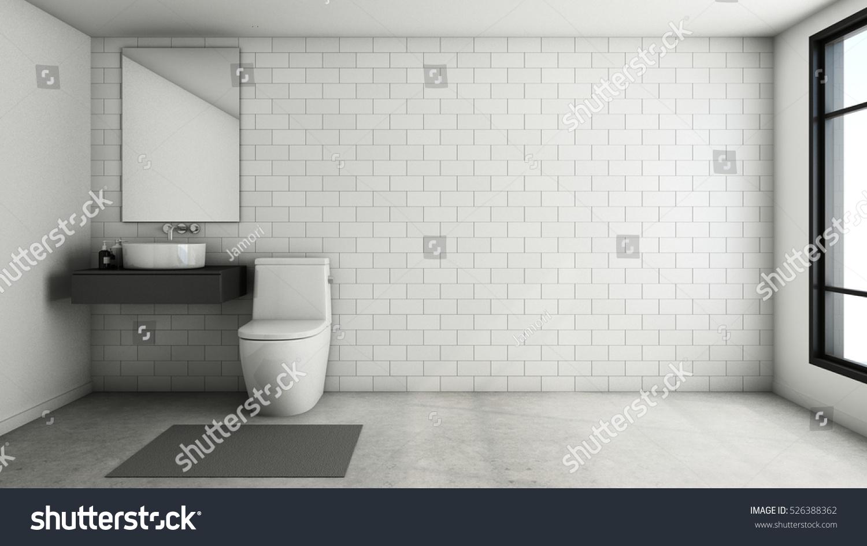 Bathroom Design Modern Loft 3d Render Stock Illustration 526388362 Shutterstock