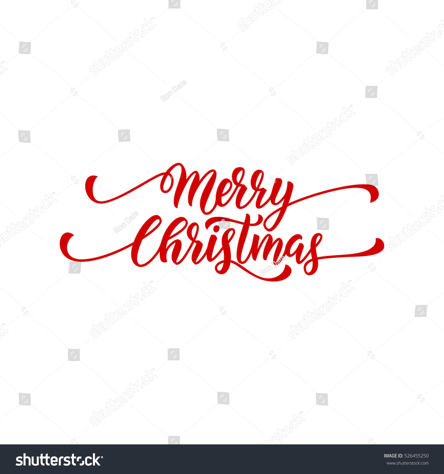 Merry Christmas Vector Text Calligraphy Lettering Stock