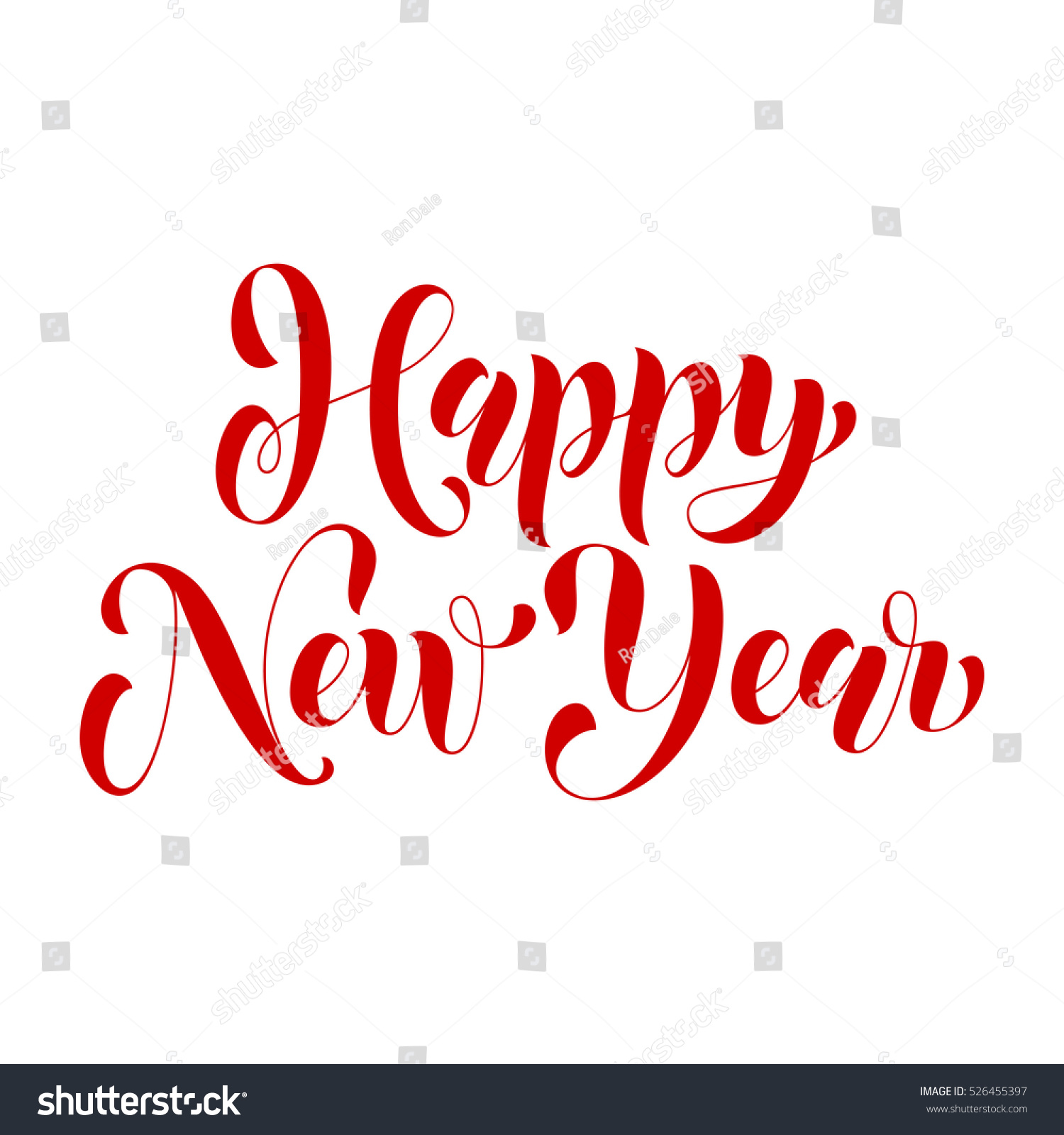 lettering design for happy new year greeting card template calligraphic style font type for banner
