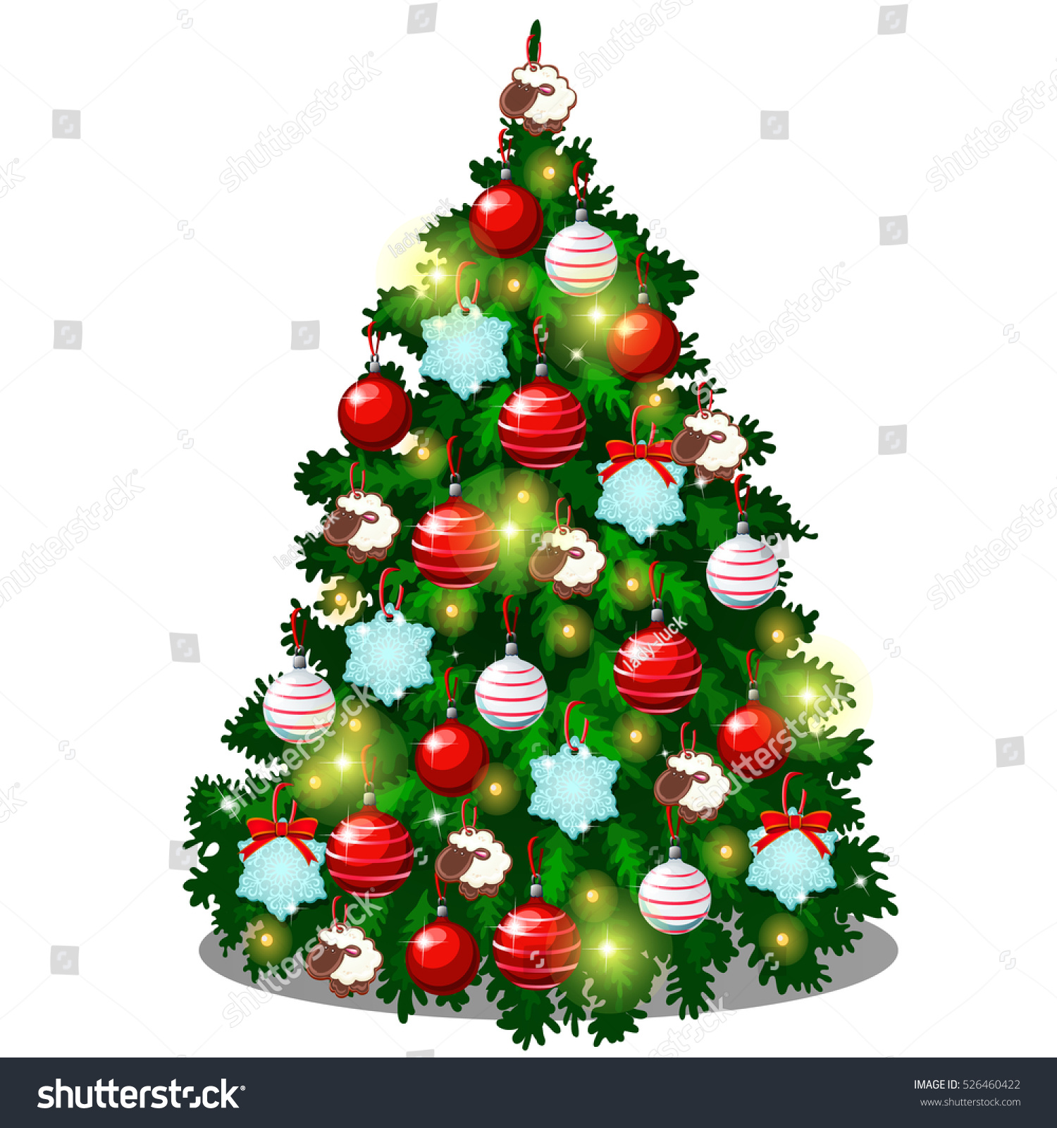 Sample Christmas Tree Decorating Ideas: Sketch With Cute Christmas Tree With New Year Gifts