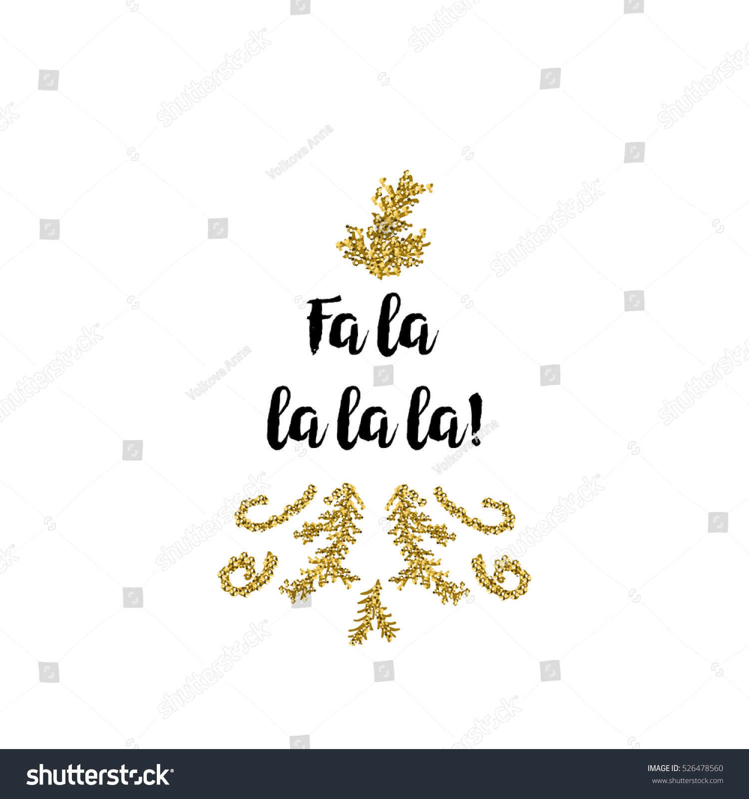 Christmas Greeting Card On White Background Stock Vector