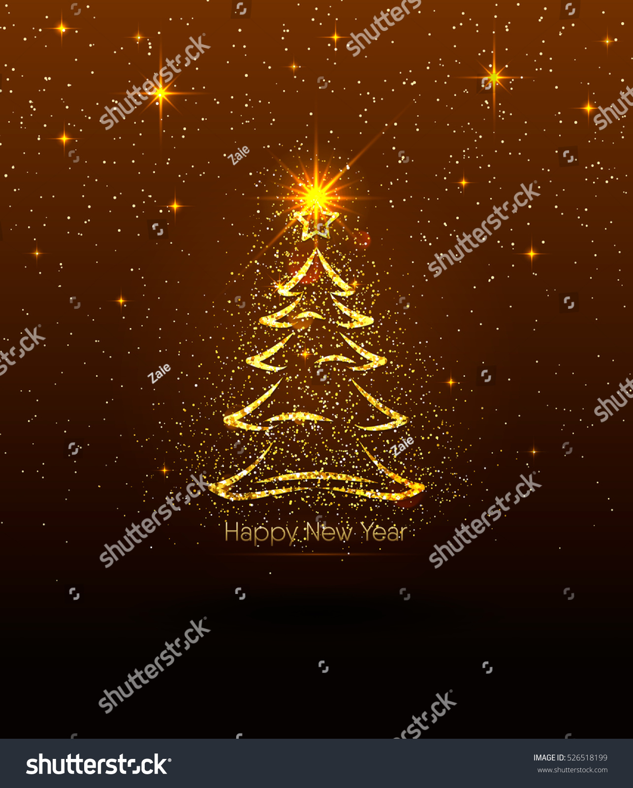 Vector illustration happy new year golden stock vector 526518199 vector illustration of happy new year golden luxury greeting with light effect glitter fir kristyandbryce Image collections