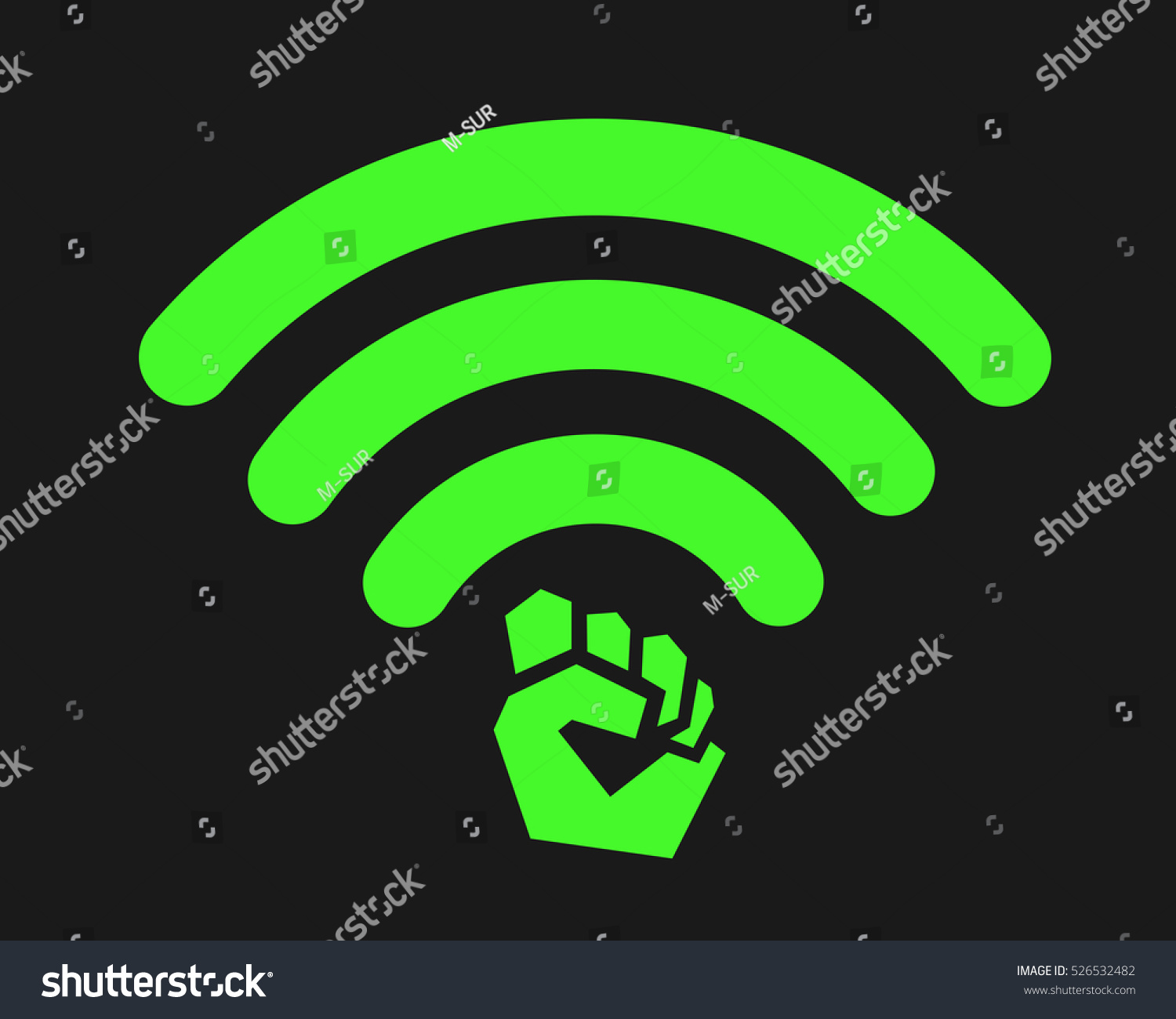 Metaphor Meaning Modified Symbol Wifi Signal Stock Vector Royalty