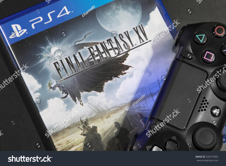 BANGKOK THAILAND OCTOBER 30 2016 The New Final Fantasy XV with PS4 Joystick on November 30 2016 in Bangkok Thailand