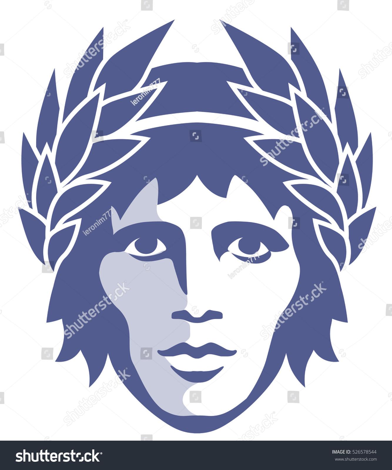 Graphic portrait ancient greek god apollo stock vector 526578544 graphic portrait of the ancient greek god apollo in the laurel wreath biocorpaavc