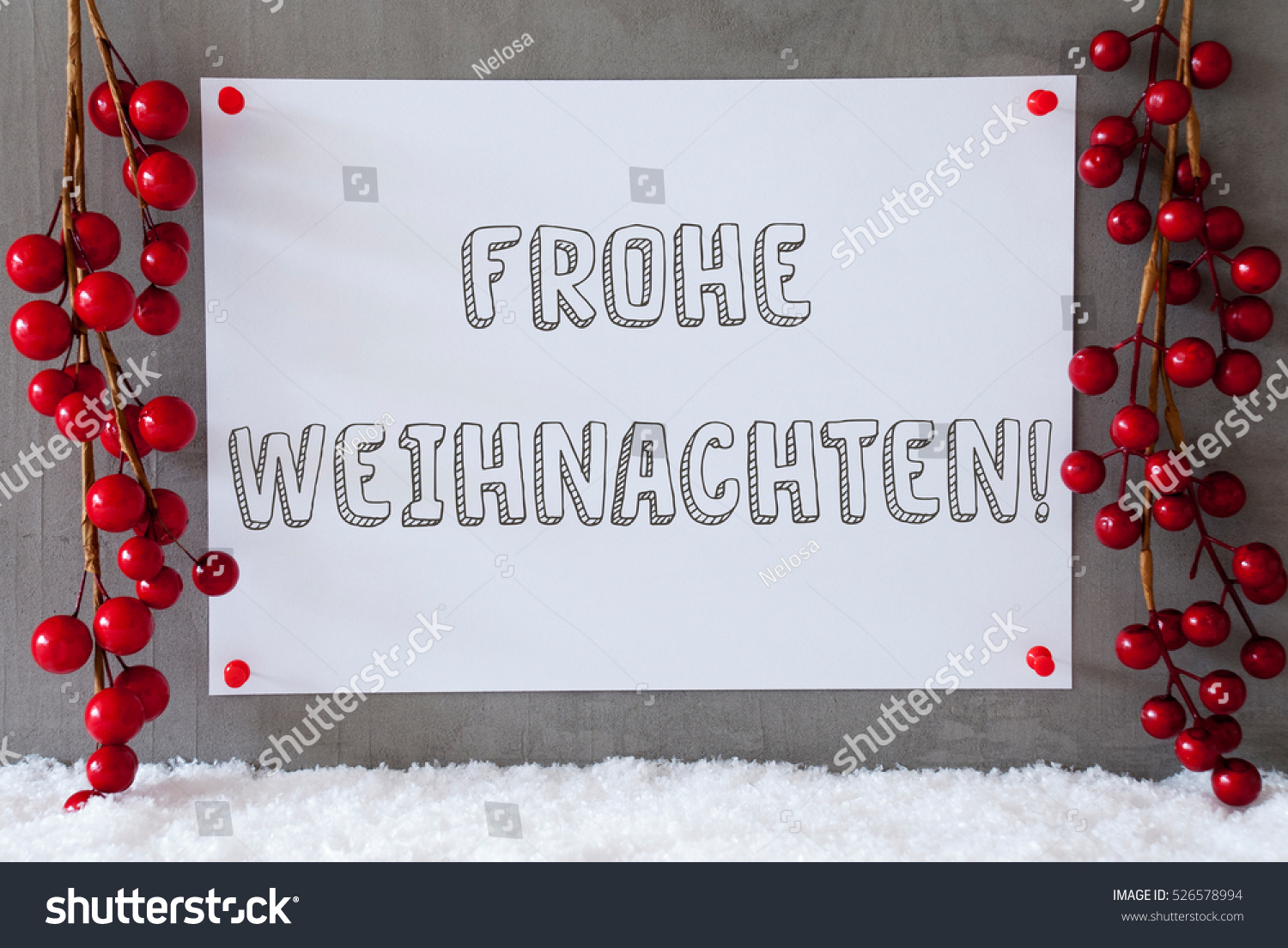 label snow decoration frohe weihnachten means stock photo. Black Bedroom Furniture Sets. Home Design Ideas