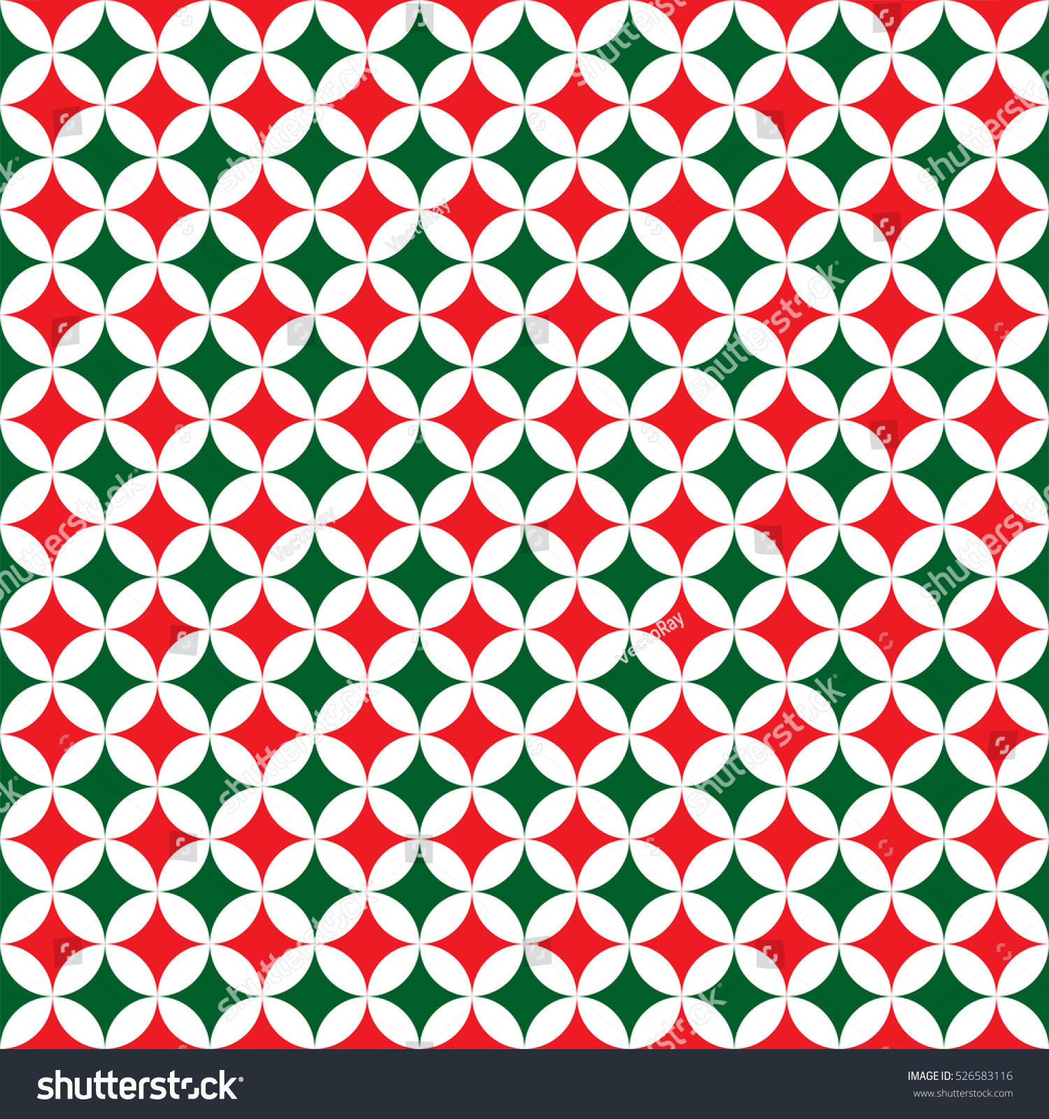 Seamless Christmas Pattern Background Red Green Stock Vector ...