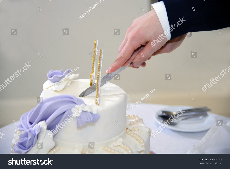 Delicious Wedding Cake Couple Cut Cake Stock Photo (Edit Now ...