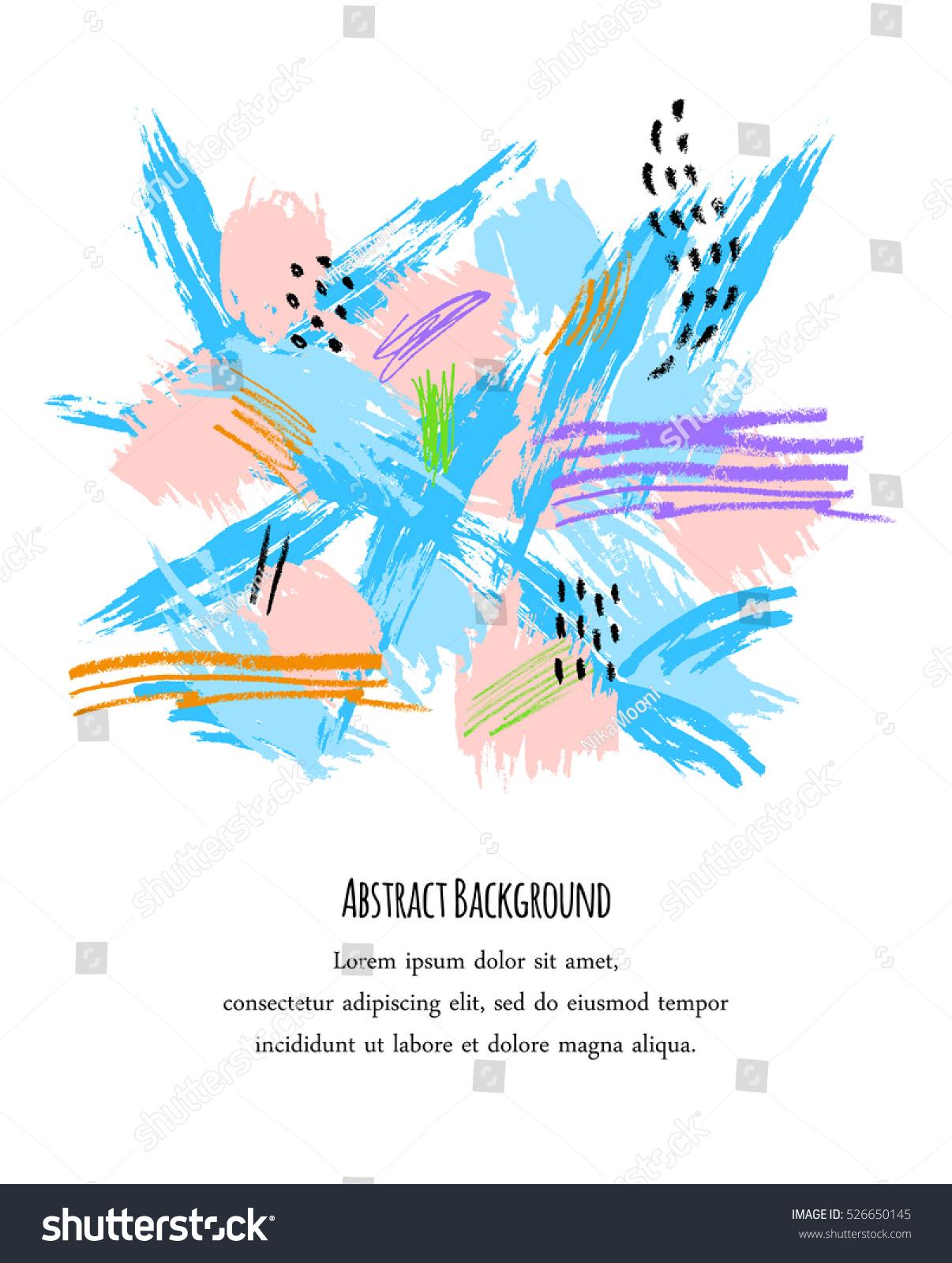 Abstract Creative Background Hand Drawn Textures Vector de stock ...