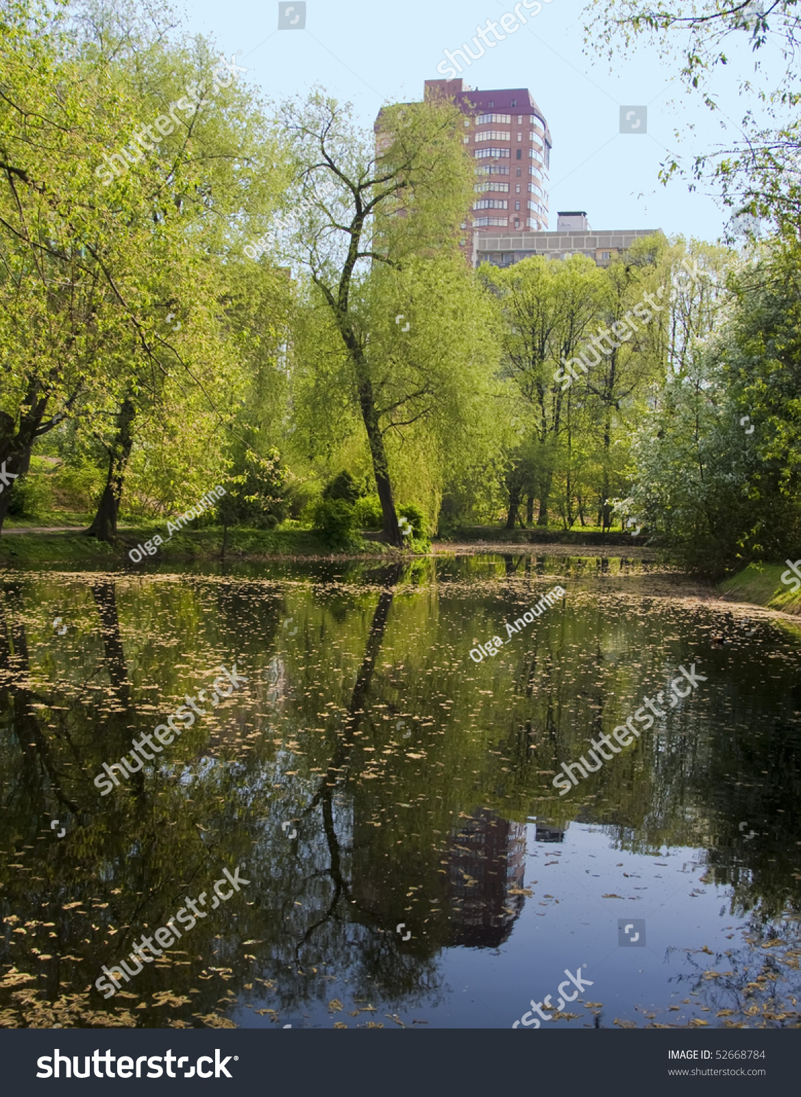 Small Pond In Center Of Moscow City Russia Stock Photo 52668784 Shutterstock