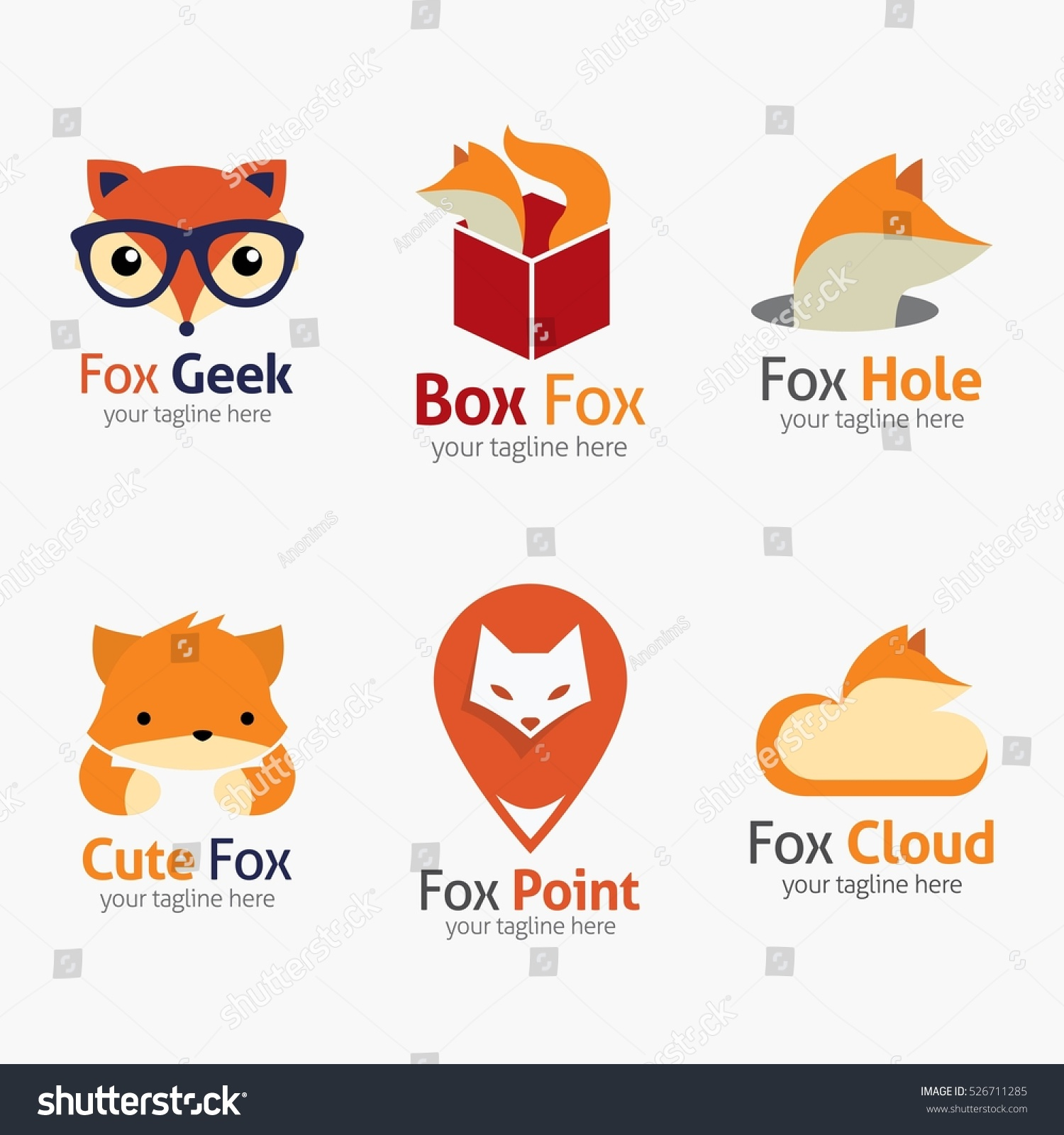 design templates vectors vector artwork wwwresume formatcom stock vector fox logo design template vector illustration 526711285 - Wwwresume Formatcom