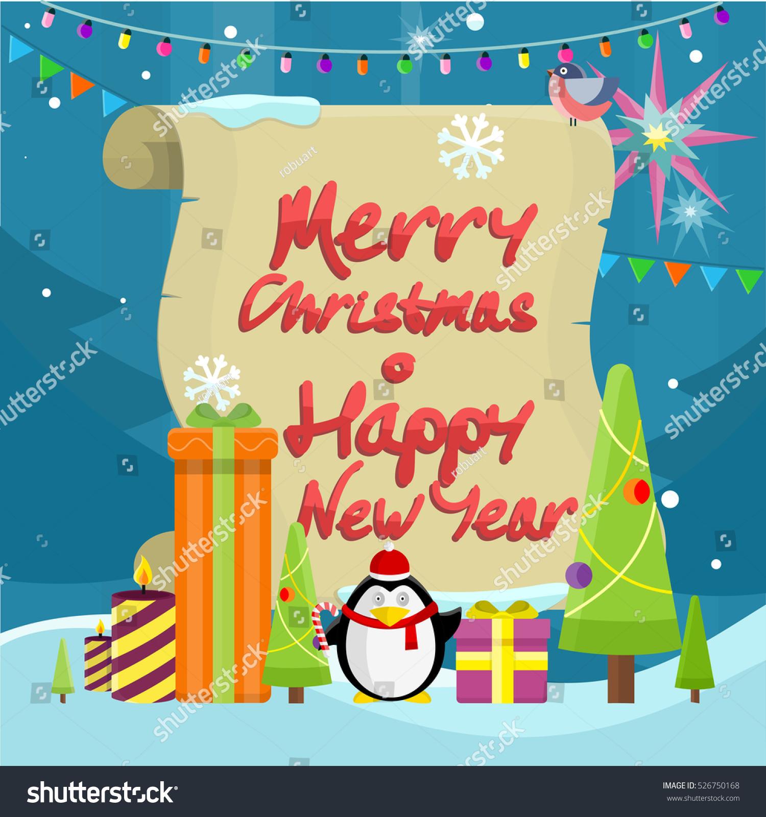 71c6545f38b31 Winter holidays symbols concept. Flat design. Christmas tree with toys