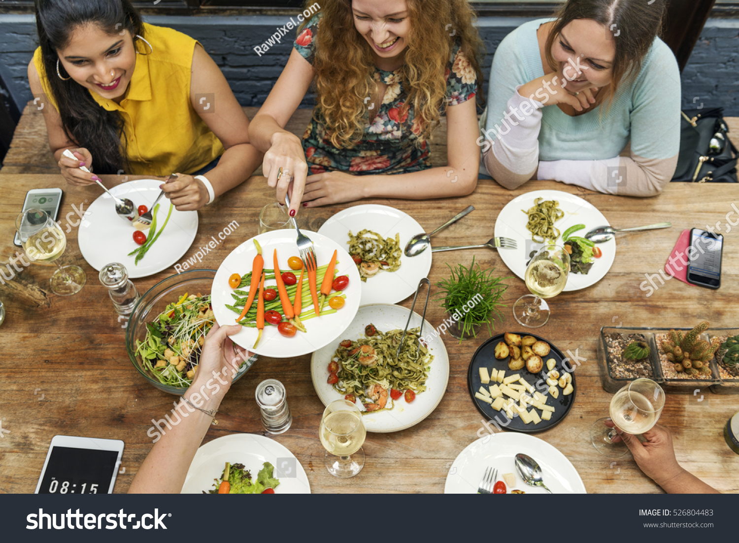 Women Communication Dinner Together Concept #526804483