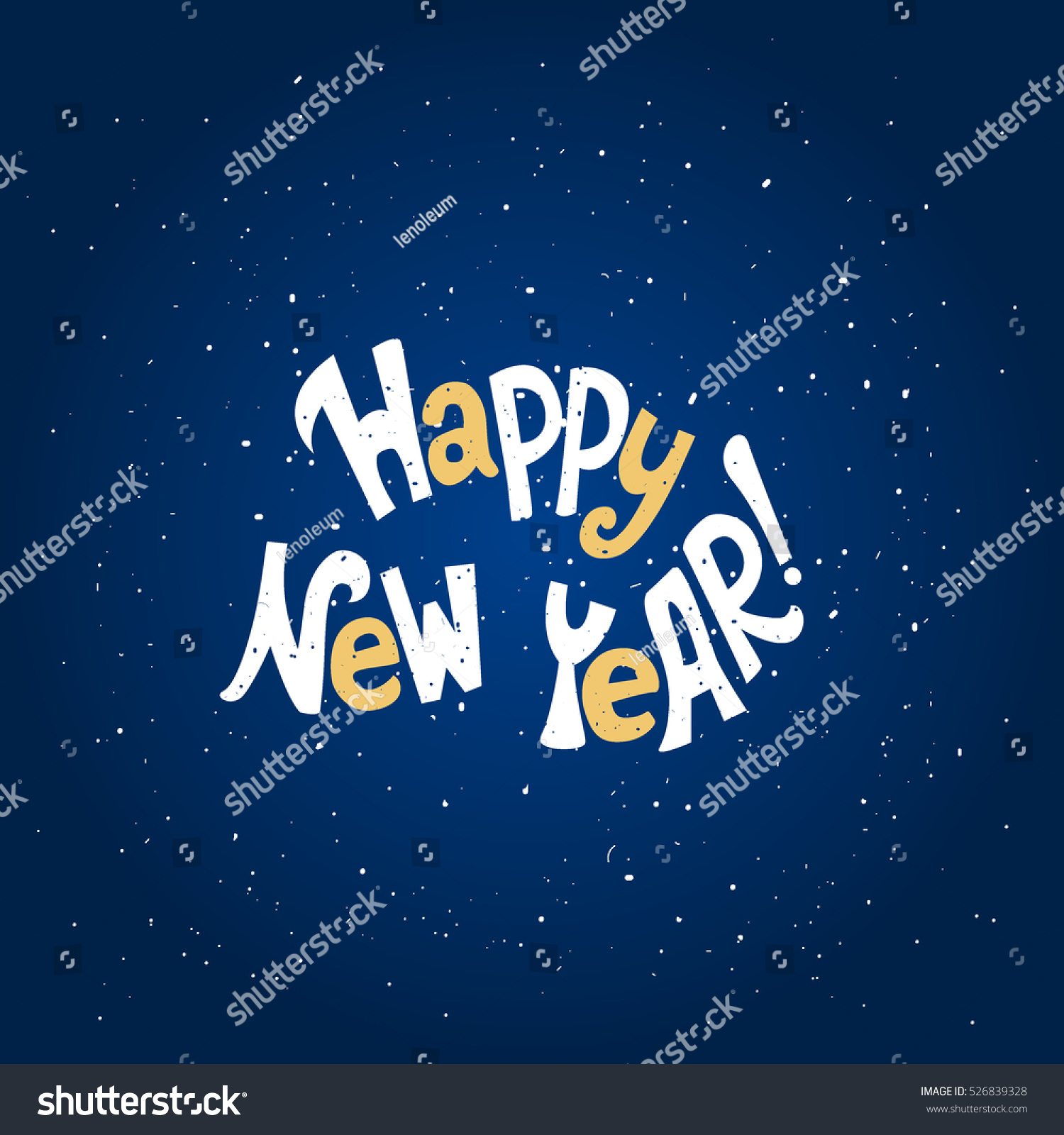 happy new yearhand lettering quote vector illustration great choice for gift or