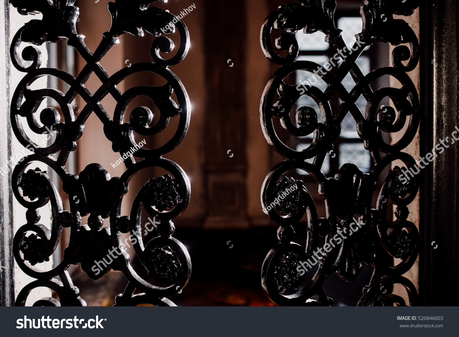 Black iron gate stock photo shutterstock