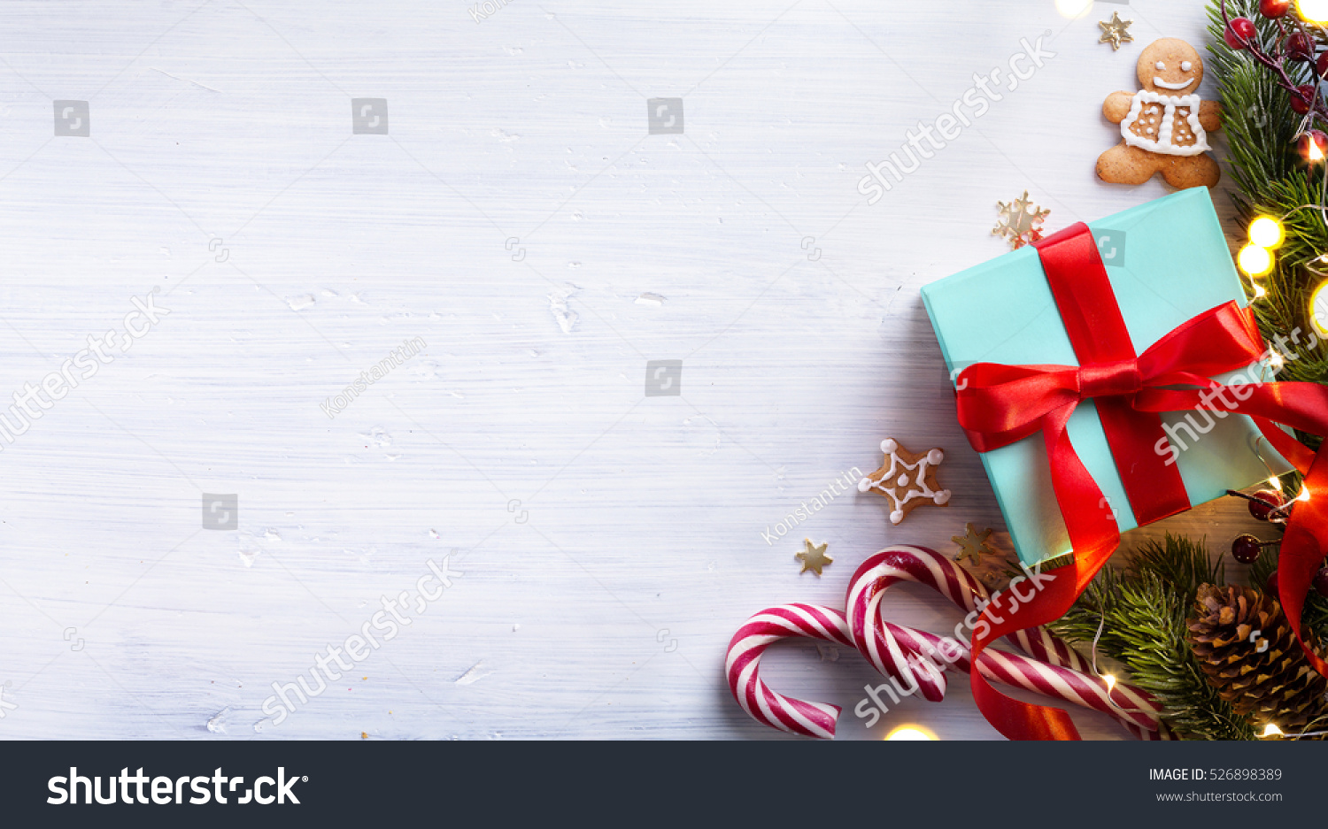 Art Christmas Holidays Composition On White Stock Photo (Edit Now ...