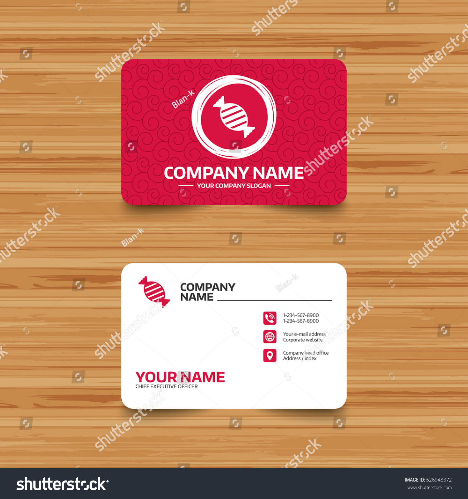 Business Card Template Texture Candy Icon Stock Photo (Photo, Vector ...
