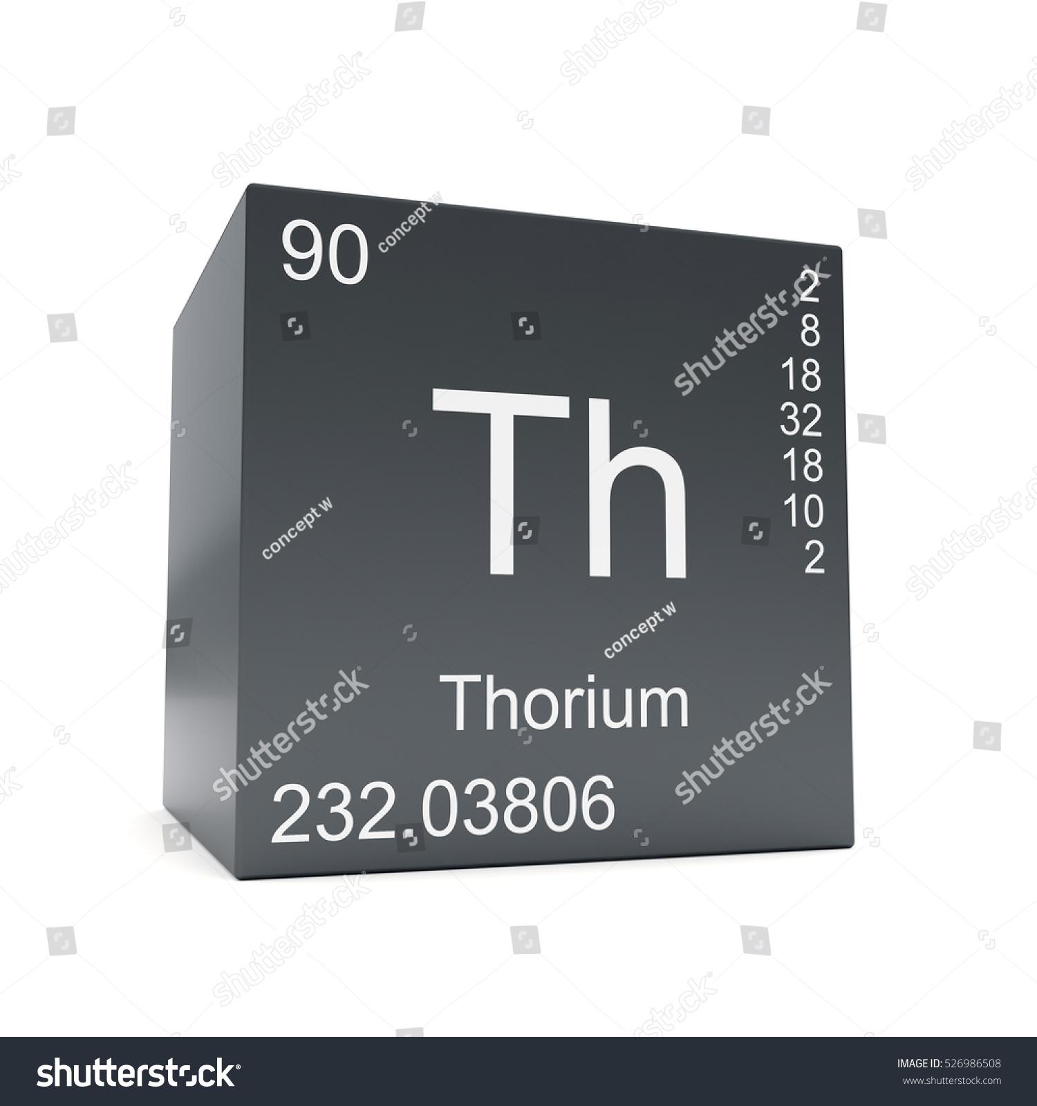 Thorium Chemical Element Symbol Periodic Table Stock Illustration