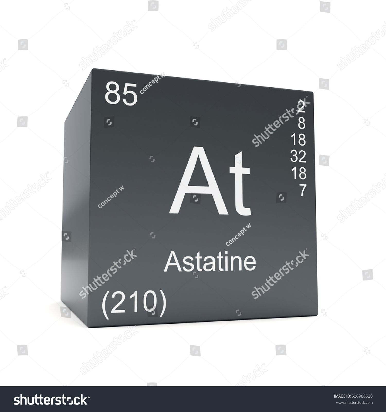 Astatine chemical element symbol periodic table stock illustration astatine chemical element symbol from the periodic table displayed on black cube 3d render gamestrikefo Image collections