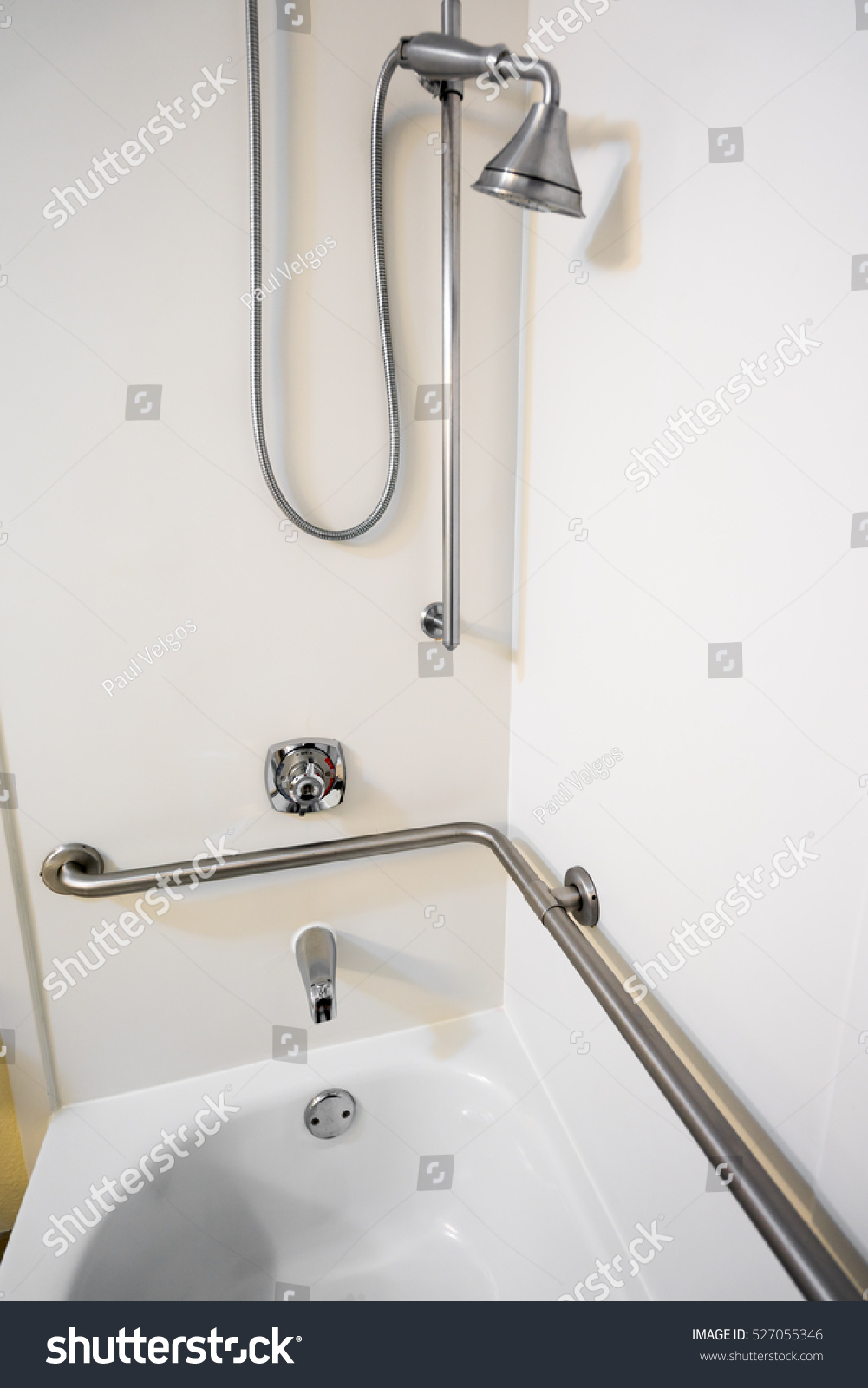 Disabled Access Bathtub Shower Grab Bar Stock Photo (Download Now ...