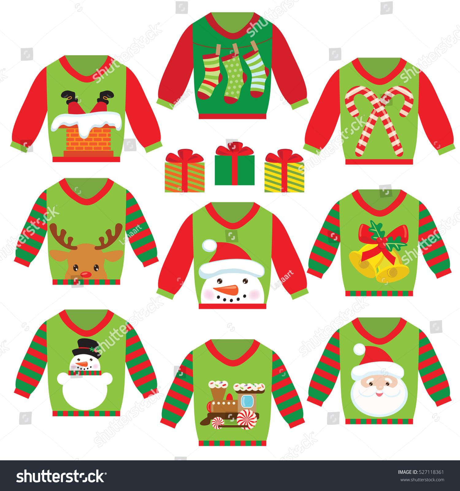 christmas sweater vector brush