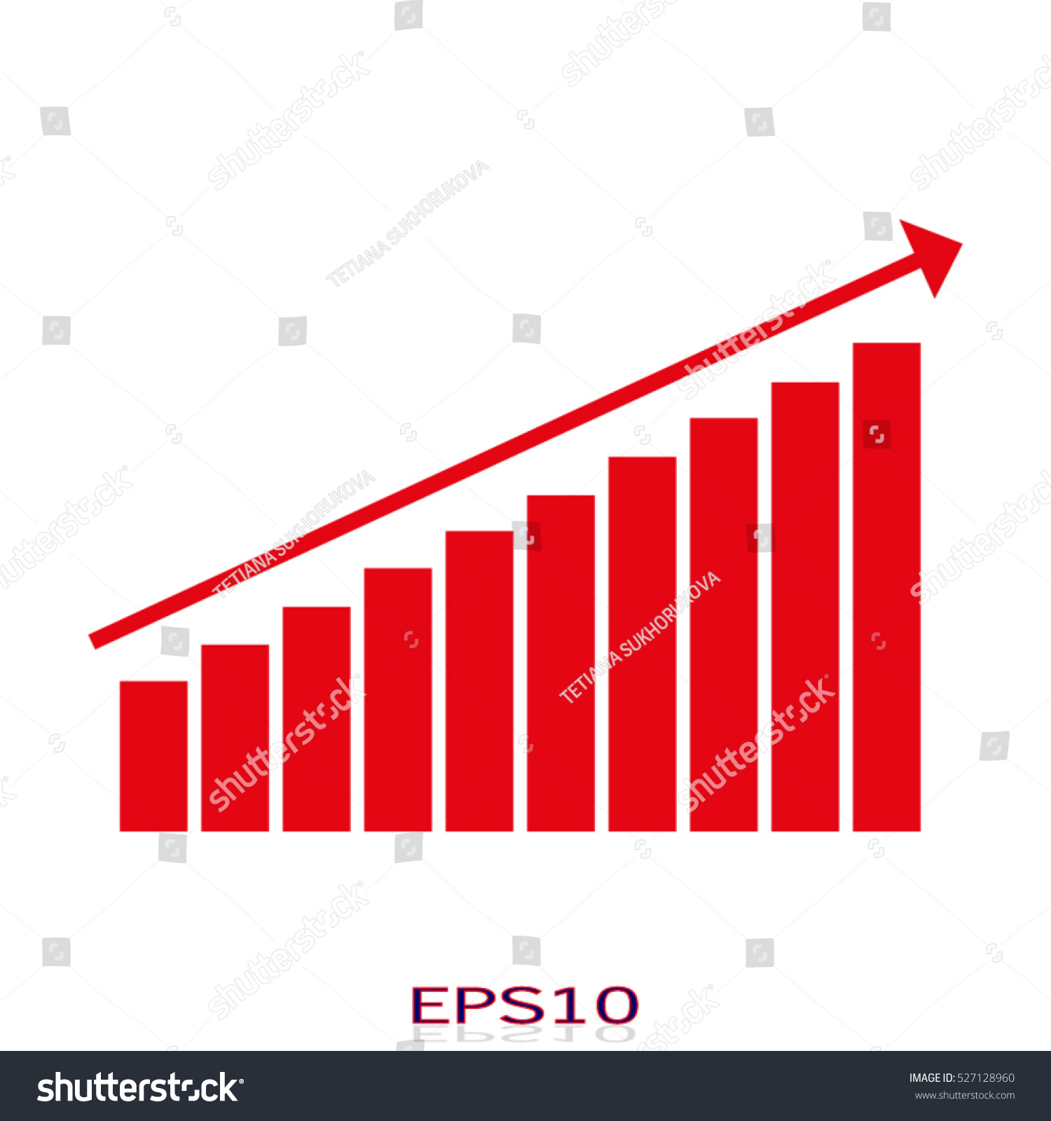 Business growth chart vector icon eps10 stock vector 527128960 business growth chart vector icon eps10 nvjuhfo Gallery
