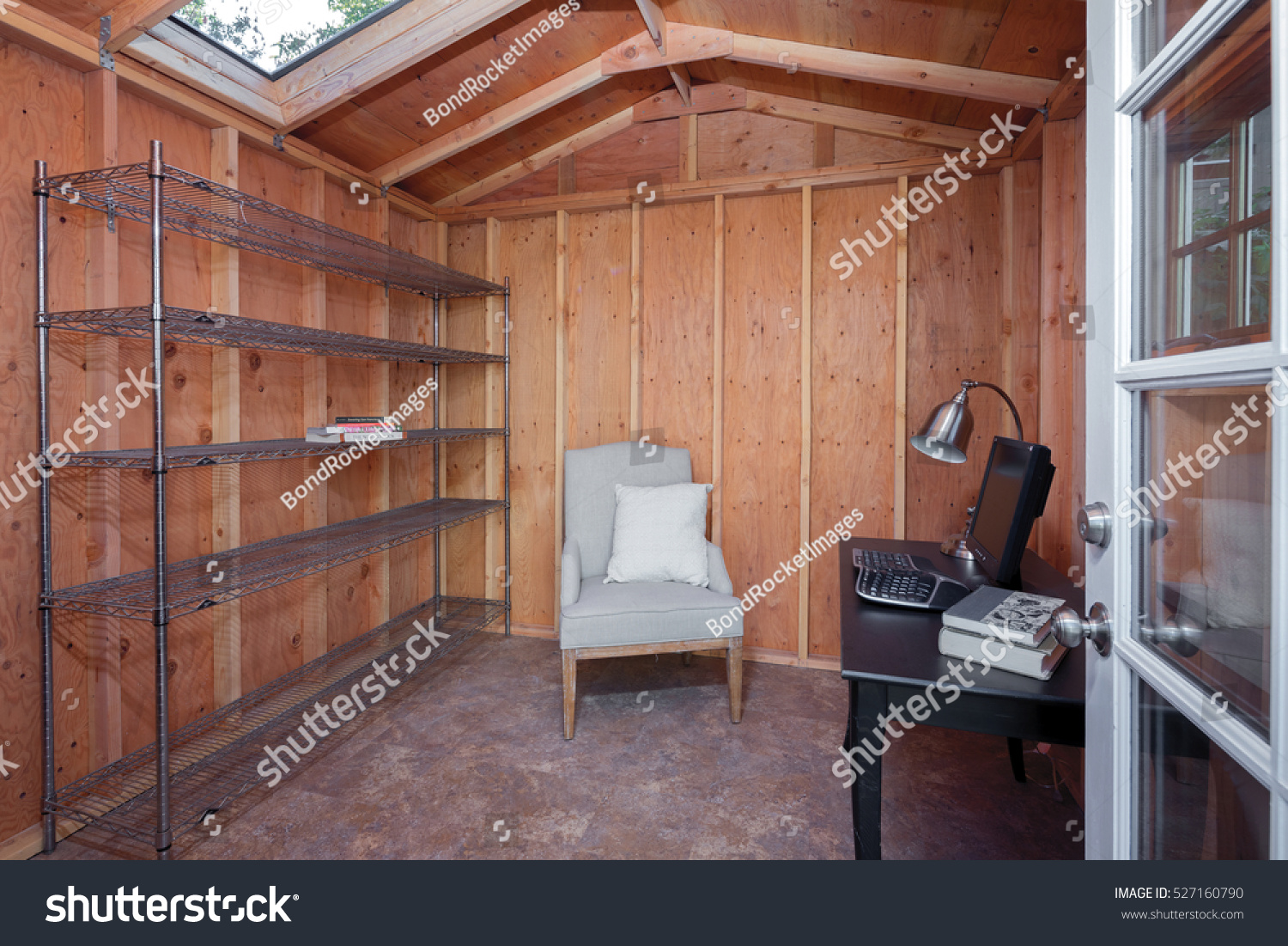 wooden garden shed home office. Inside Of A Wooden Garden Shed Used As Home Office. Office R
