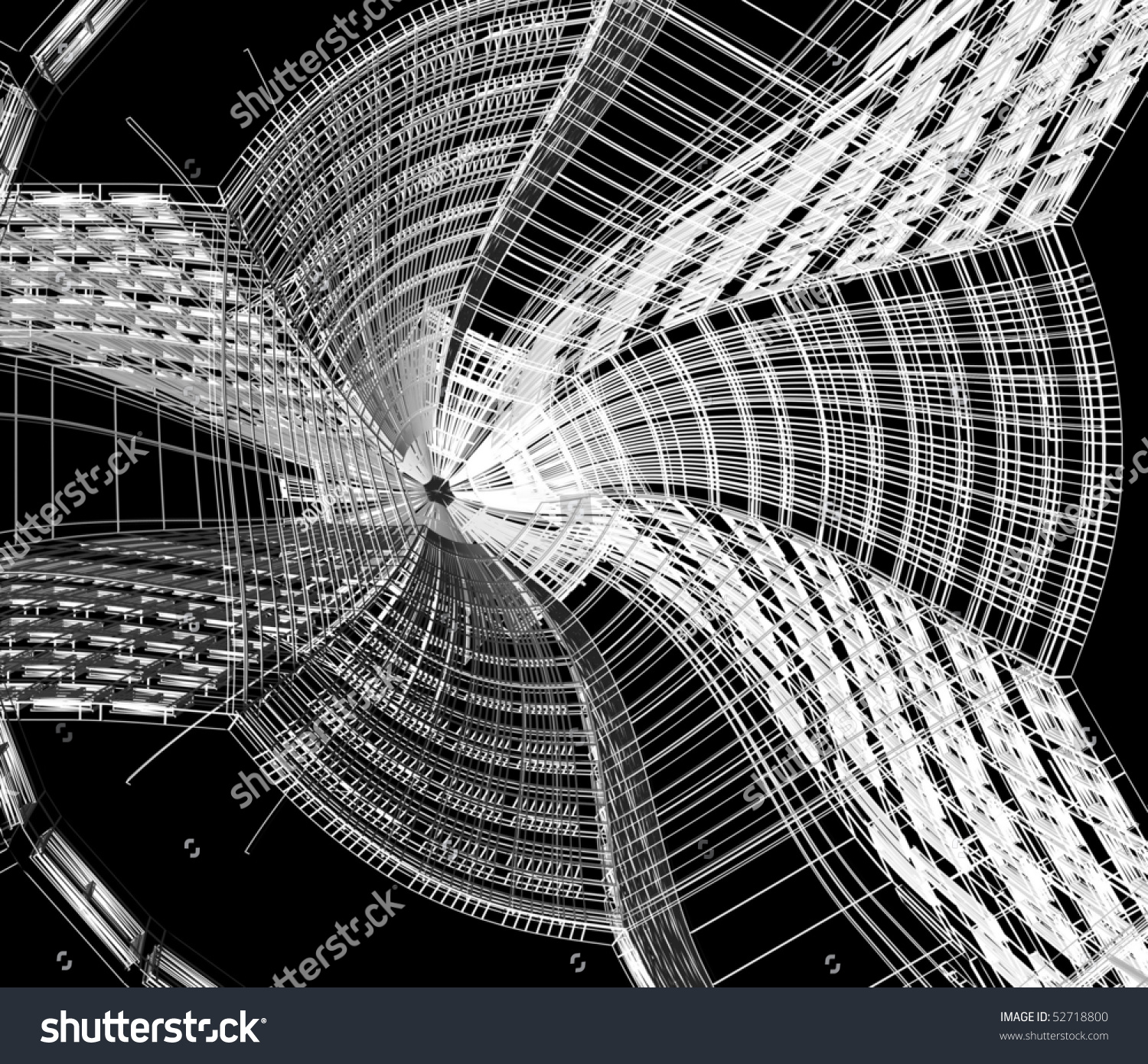 3d abstract architectural design - photo #24
