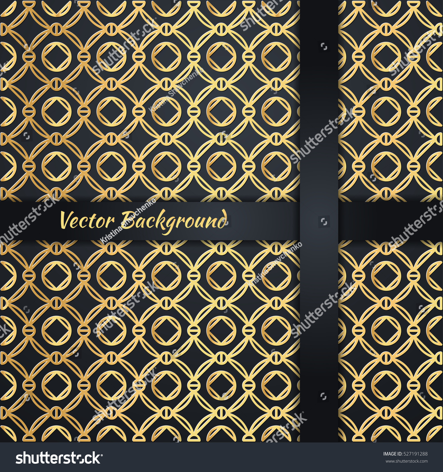 Abstract Vector Background Luxury Style Gold Stock Vector