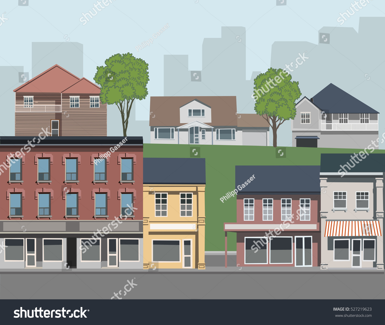 Suburban houses very detailed renderings one brownstone for Suburban floors