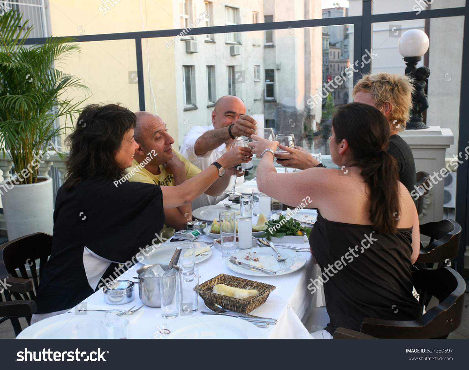 Istanbul turkey july 8 people eating stock photo 527250697 for What do people eat on thanksgiving