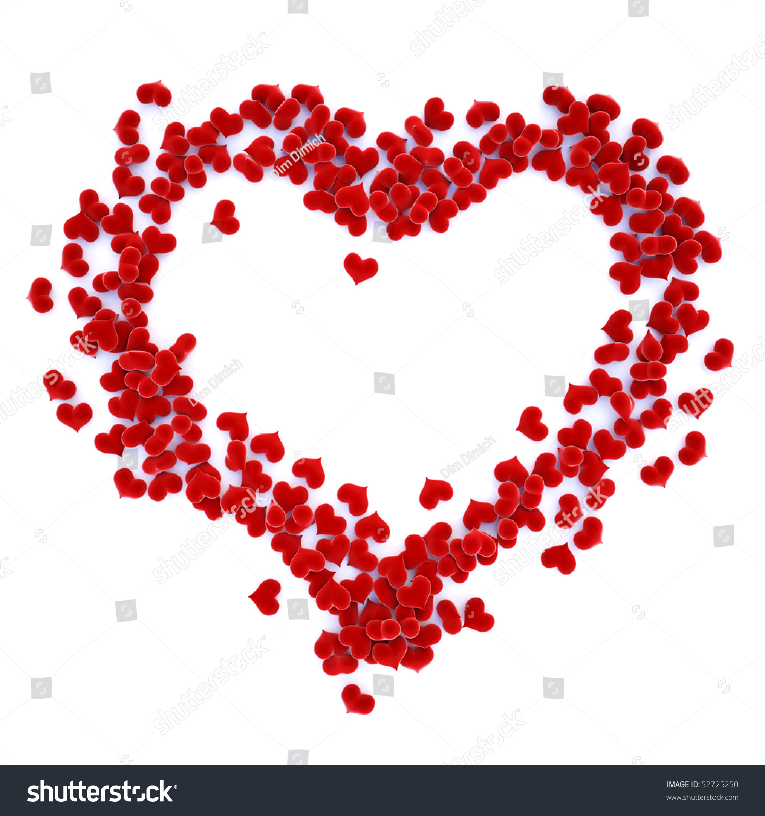 Red gift bows border with clipping path for easy background removing - Hearts Velvet Lined As A Symbol Of The Heart With Clipping Path