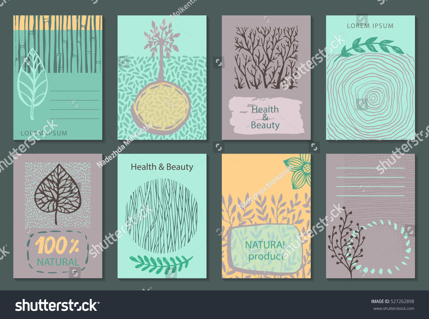 Vector Set Eco Nature Labels Business Stock Vector 527262898 ...