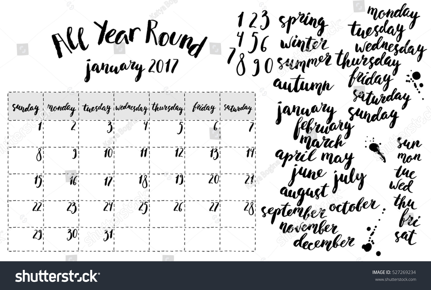 month planner template