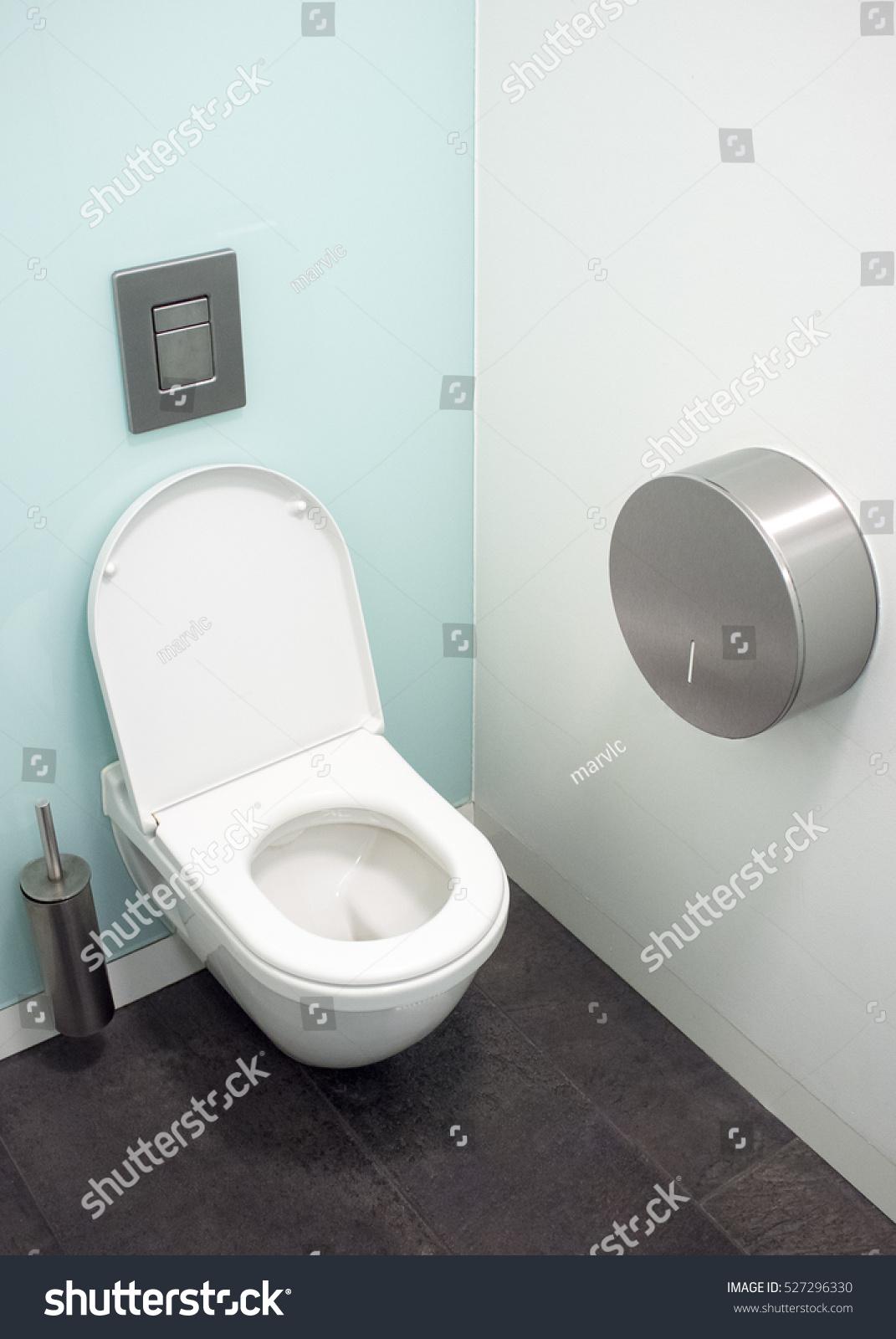 Modern European Toilet Cubicles White Toilet Stock Photo (Edit Now ...