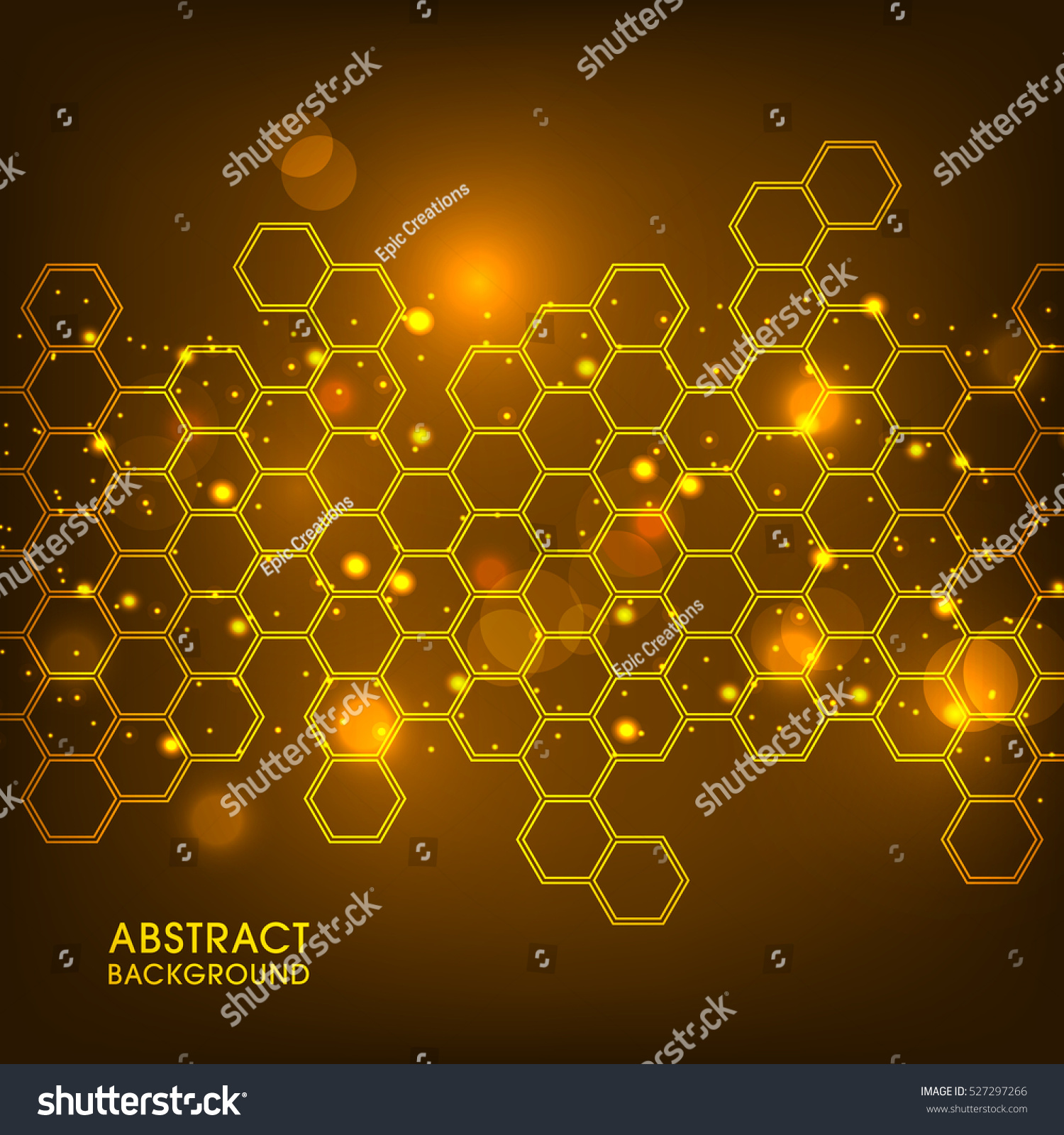 Illustration Honeycomb Abstract Background Stock Vector