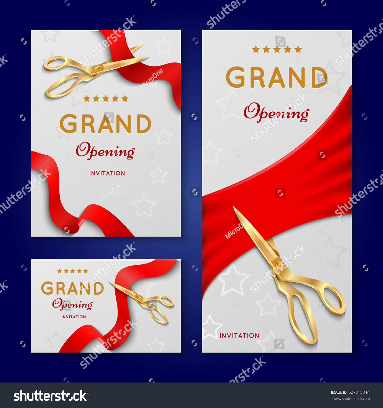 ribbon cutting scissors grand opening ceremony stock vector 527315344 shutterstock. Black Bedroom Furniture Sets. Home Design Ideas