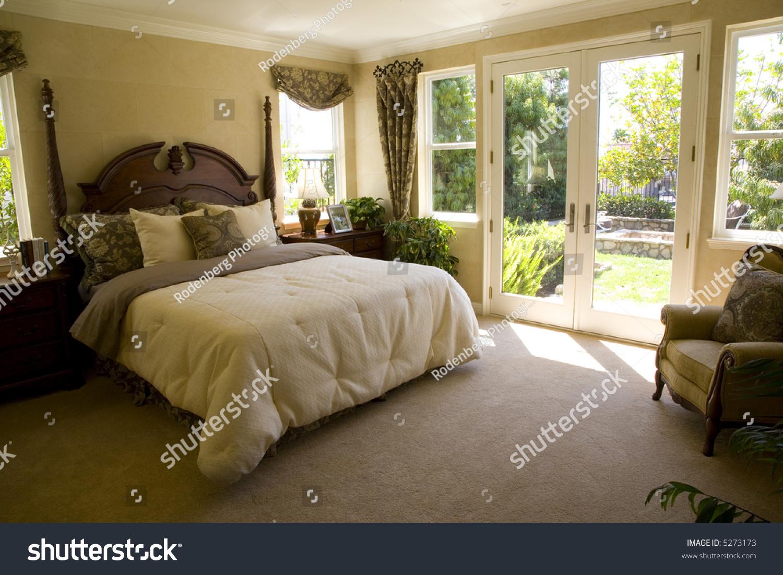 Bedroom With Garden View Stock Photo 5273173 Shutterstock