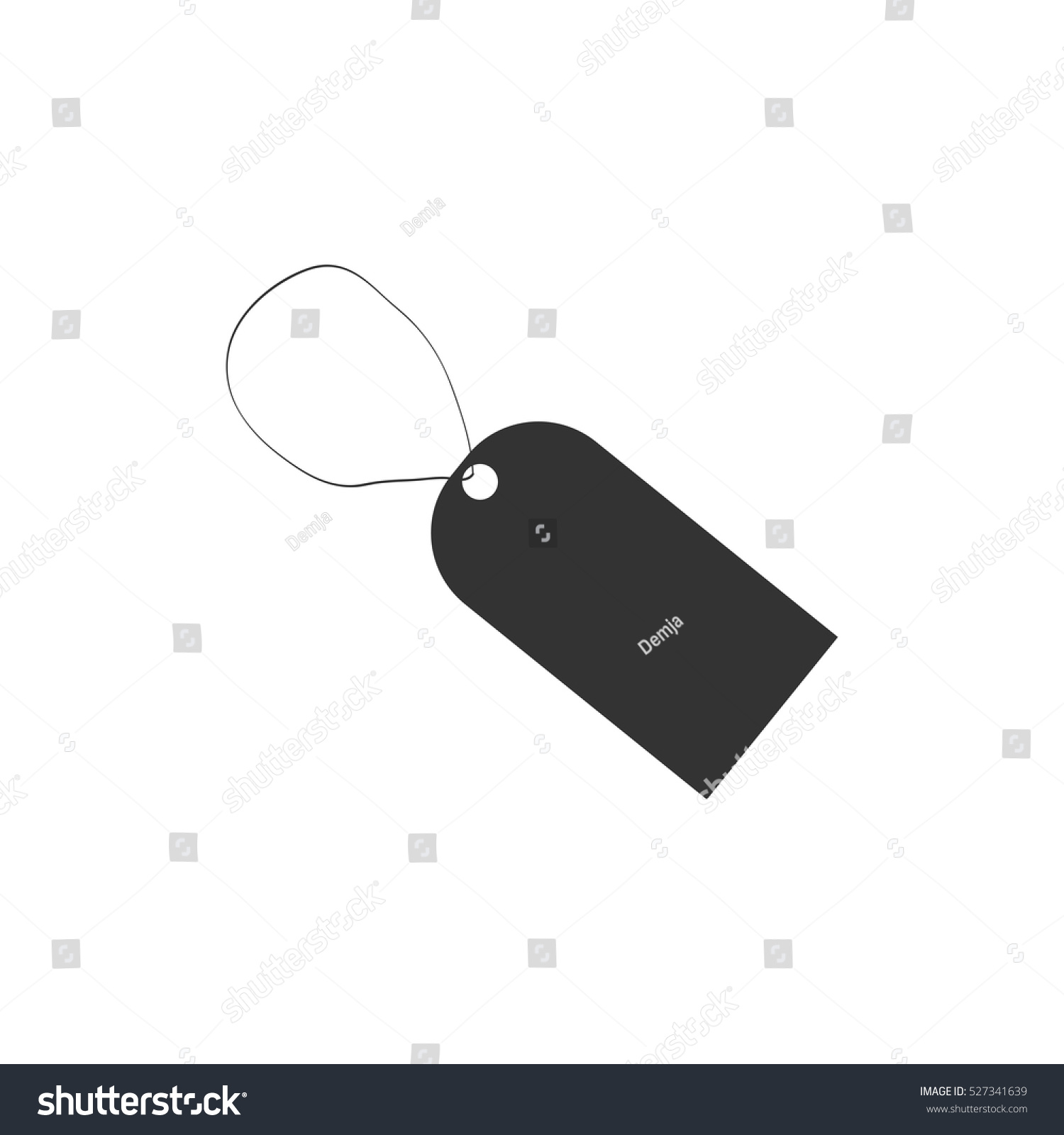 Price Tag Icon Flat Illustration Isolated Stock Vector Royalty Free