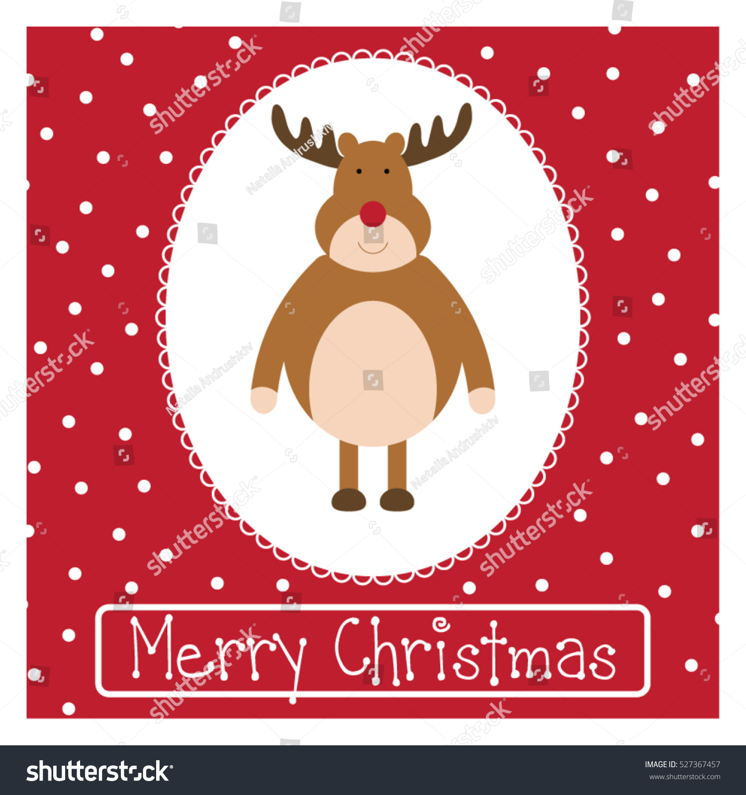 Christmas Greetings Card Funny Holiday Illustration Stock Vector