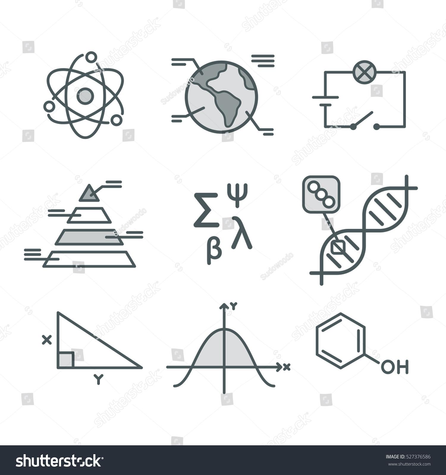 Science symbols set mathematical functions chemistry stock vector science symbols set mathematical functions chemistry and biology geography and physics abstract buycottarizona Images