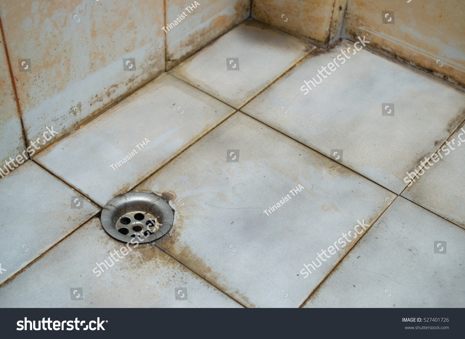 Dirty Dirt Accumulated Bathroom Not Clean Stock Photo (Download Now ...