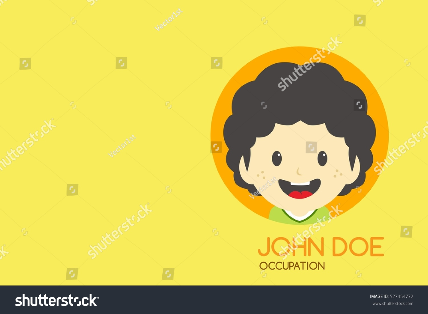Man Cartoon Theme Business Card Stock Illustration 527454772 ...