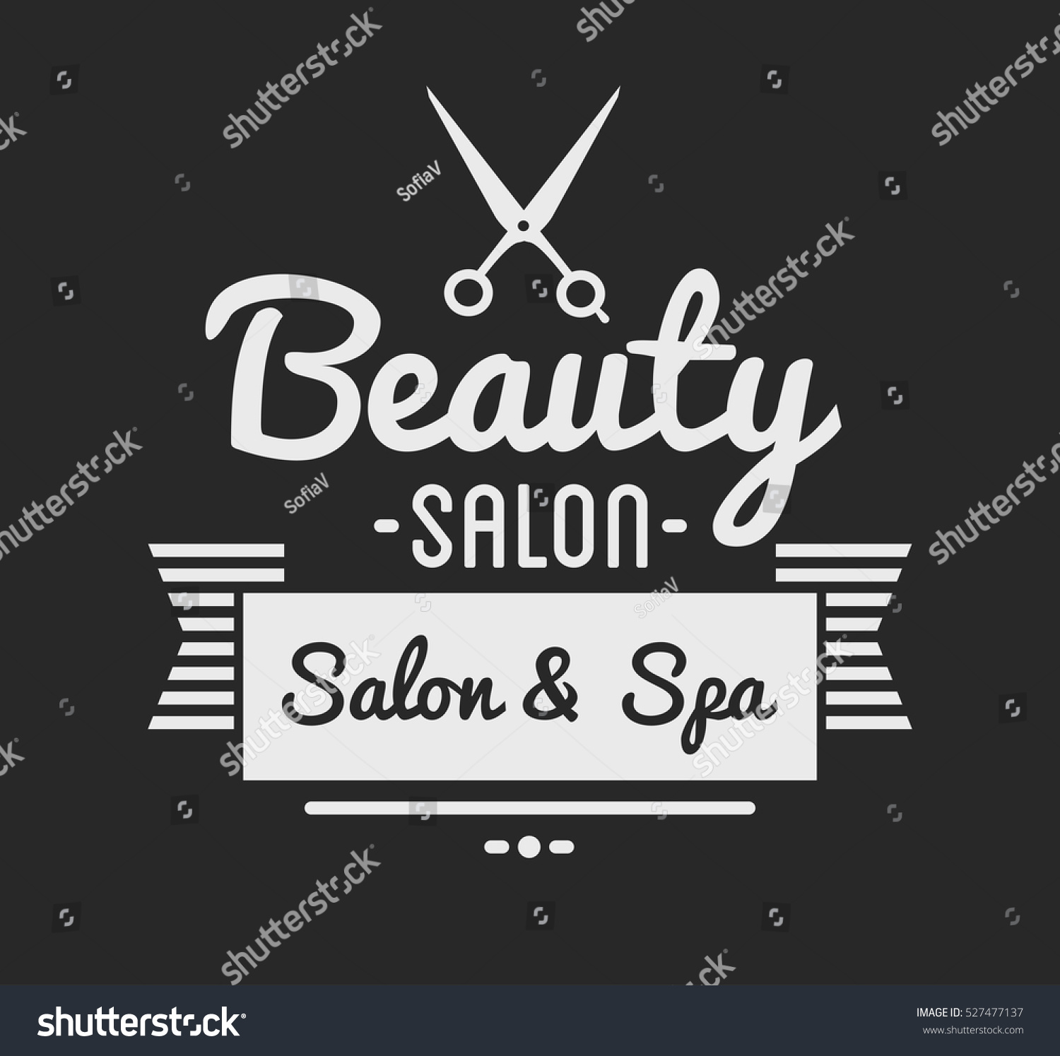 Clip art vector of vintage barber shop logo graphics and icon vector - Vintage Barber Shop Logo And Beauty Spa Salon Badge Vector Element Isolated Icons On