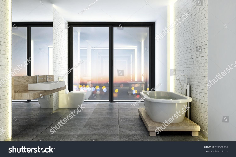 3D rendering of loft bathroom design | EZ Canvas