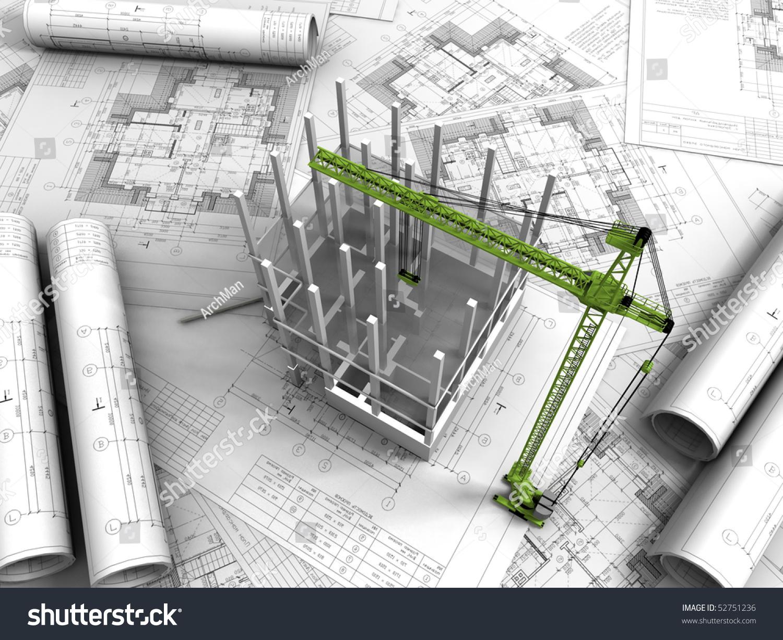 3d Plan Drawing Stock Photo 52751236 Shutterstock