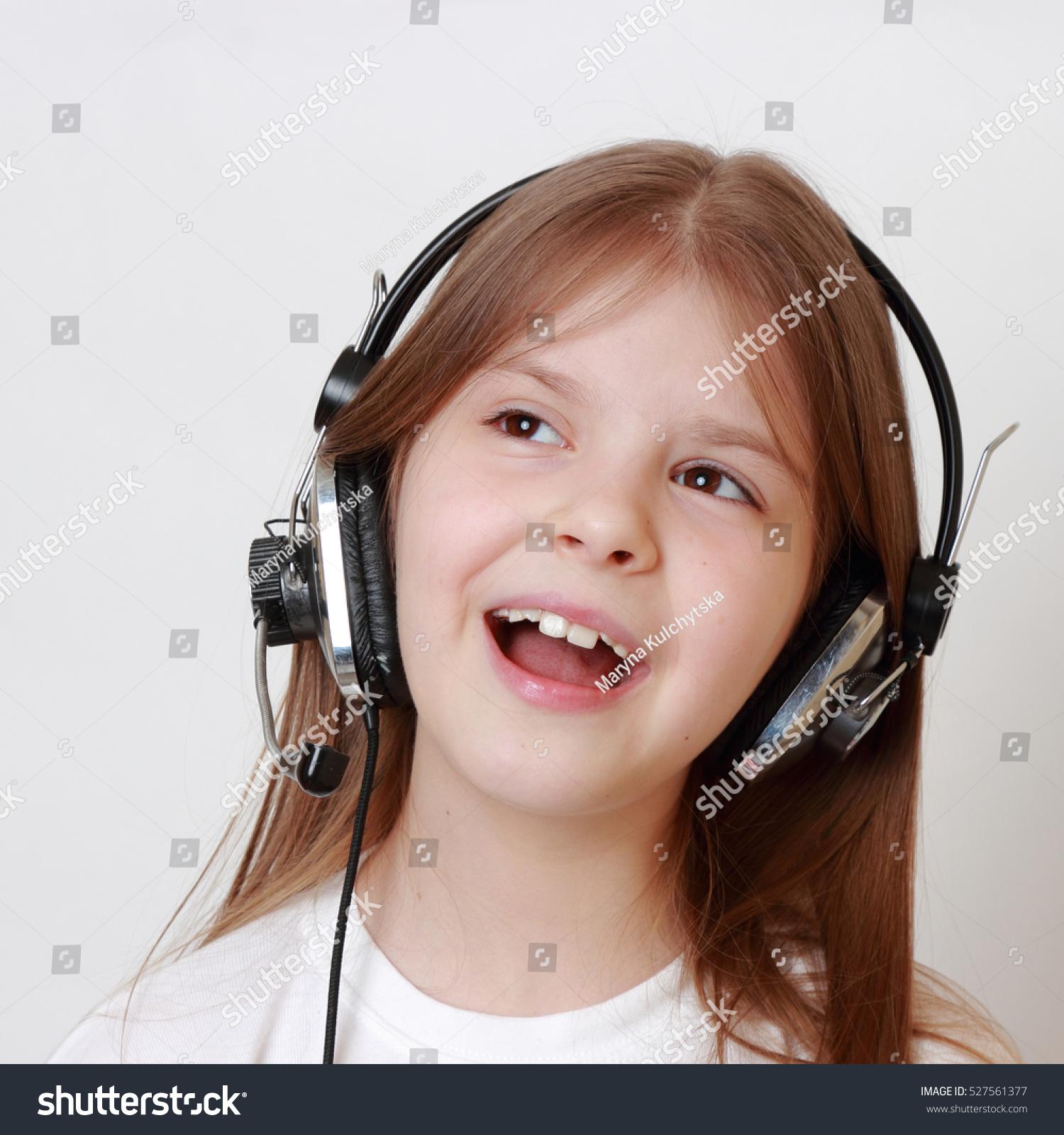 Beautiful Caucasian European Teen Girl Headphone Stock ... - photo#24
