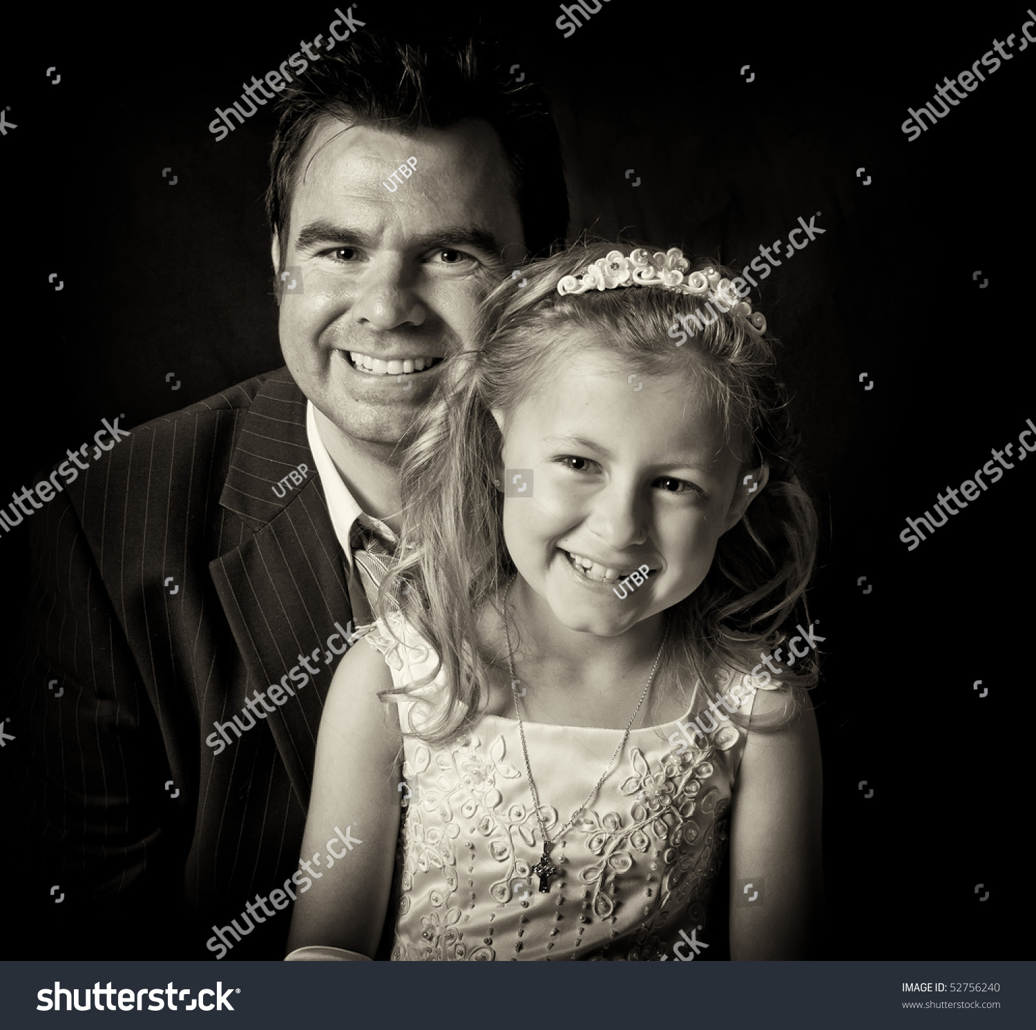 Happy family images black and white dress
